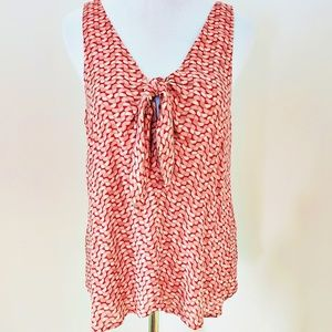 Maeve (anthro) sleeveless, tie-front top Sz Small